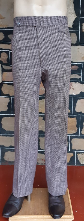 """Tweed Checked Pants, wool, 1960's, by 'Haggar' USA, size 36"""""""