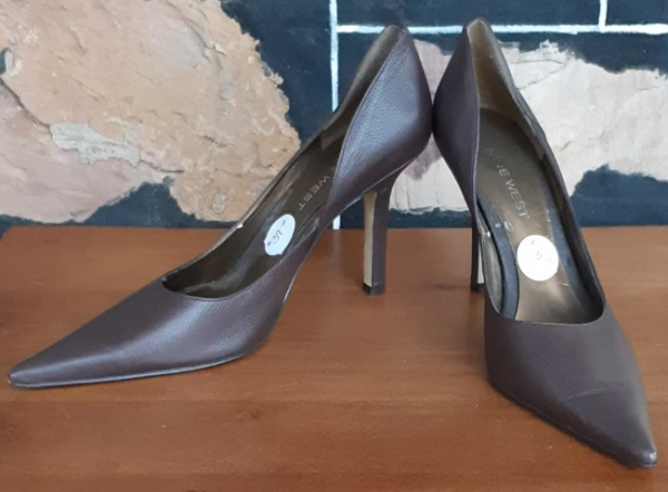 Nine West Court Shoes, Brown, leather, Size 6m