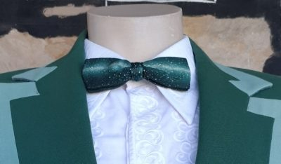 Bow tie, 1950's, USA, polyester, green print