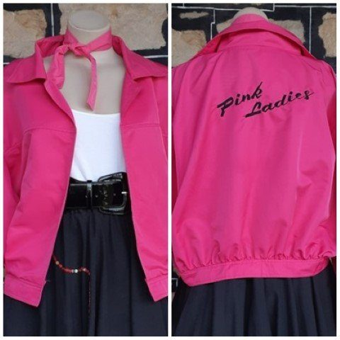 'Pink Ladies' bomber Jacket, polyester, by 'Queensland Costume Supplies' Size 2XL