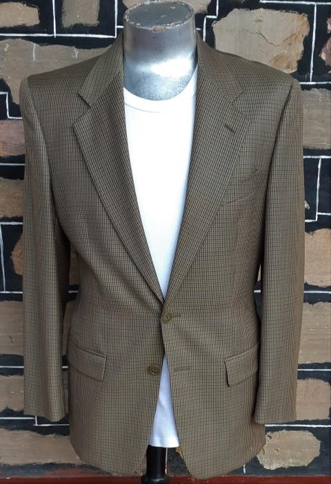 Checked Blazer, khaki, polyester, by 'Sidi', of Italy, size M