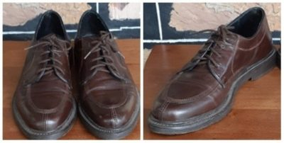 Leather business Brouge shoe, dark brown, by 'Oxford' size 9