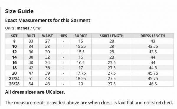 Lady V Size Chart
