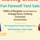 Yard sale moving online