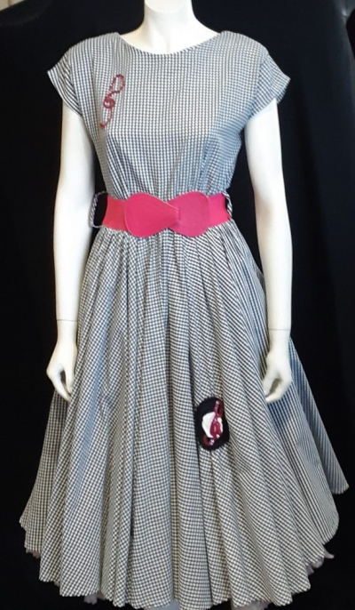 Gingham Swing Dress